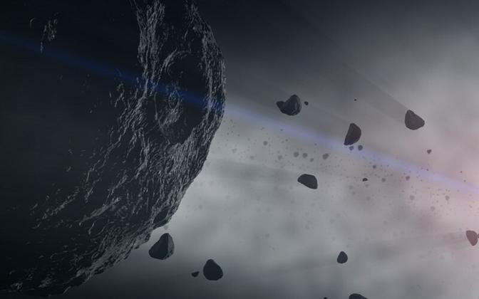 Asteroid Bennu kunstniku kujutuses.