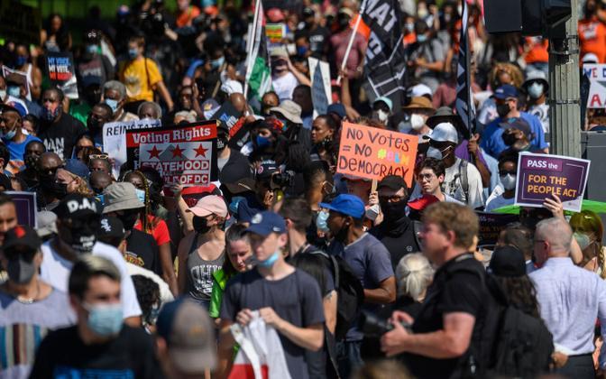 Foto meeleavalduselt Washingtonis.