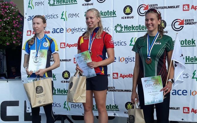 Naiste esikolmik - 1. koht Margret Zimmermann, 2. koht Annika Rihma, 3. koht Evely Kaasiku