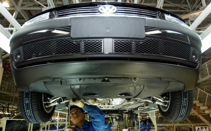 Volkswageni autotehas Shanghais.