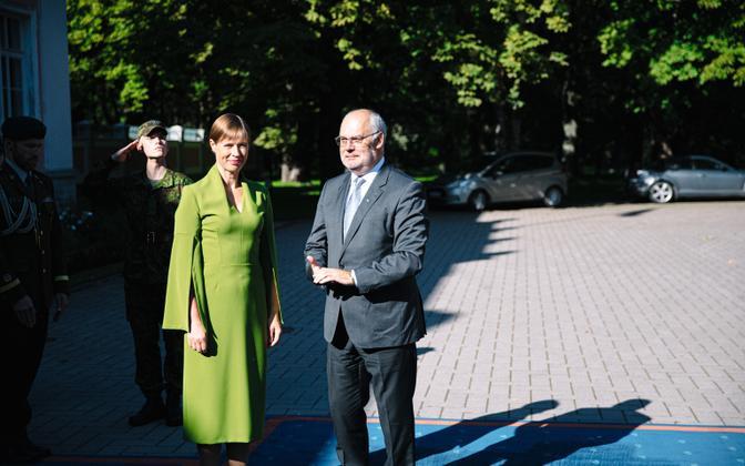 Kersti Kaljulaid ja Alar Karis Kadriorus