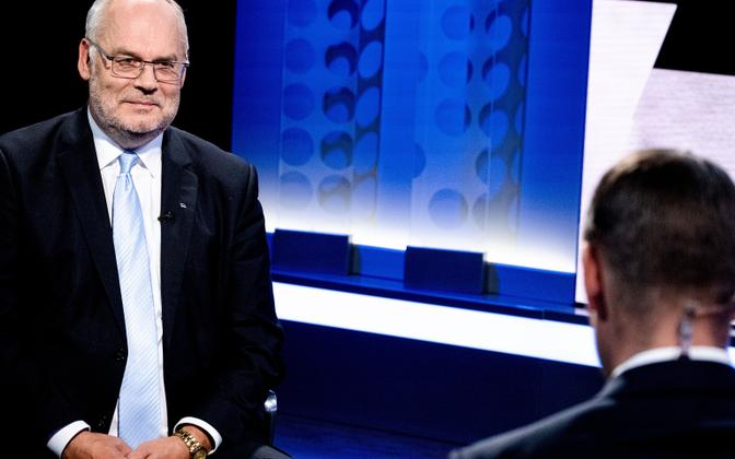 Alar Karis appearing on ETV's 'Esimene stuudio' on Tuesday, August 31 2021, the day he was elected head of state.