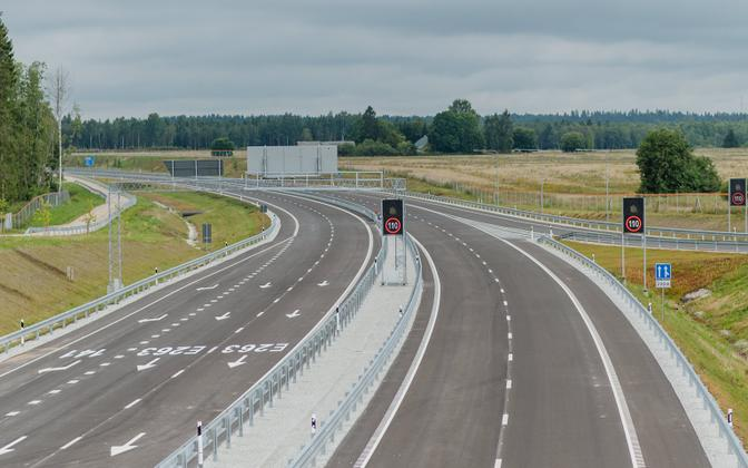 Existing stretch of highway between Kose and Võõbu,  in northern Estonia (picture is illustrative).