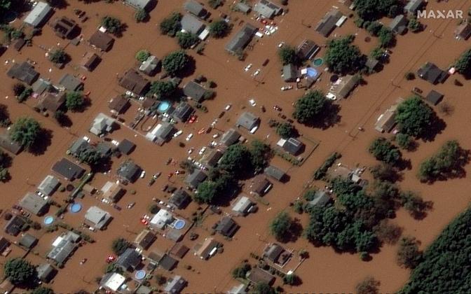 Наводнение в Мэнвилле, штат Нью-Джерси.