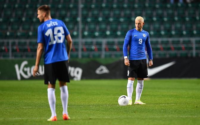 Футболисты сборной Эстонии.