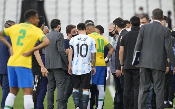 Jalgpalli MM-valikmäng Brasiilia - Argentina