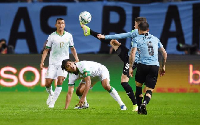 Jalgpalli MM-valikmäng Uruguay - Boliivia