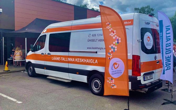Lääne-Tallinna keskhaigla mobiilne vaktsineerimispunkt
