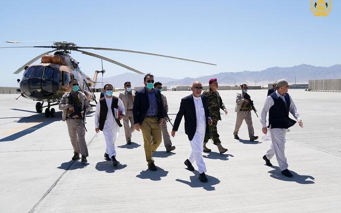 Endine Afganistani president Ashraf Ghani Bagrami lennujaamas