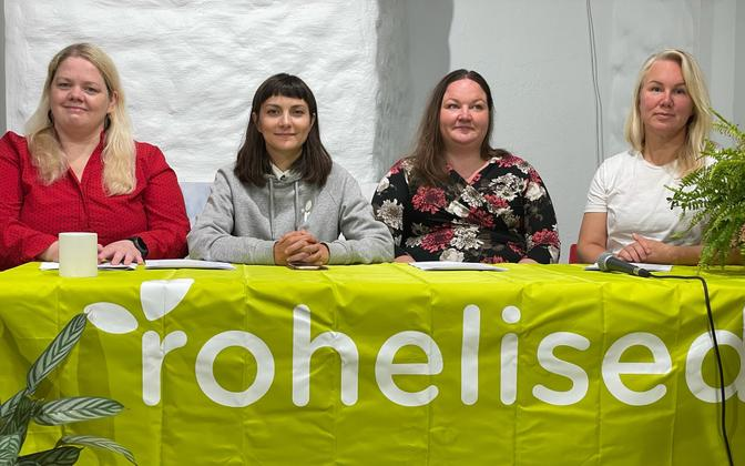 Estonian Greens (Rohelised) unveiling the party's local elections manifesto in Tallinn Monday.