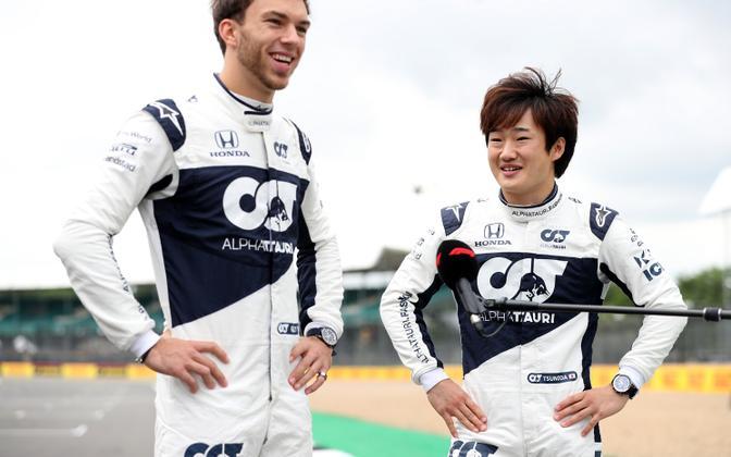 Pierre Gasly ja Yuki Tsunoda