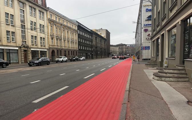 Narva maantee rattatee rajamine