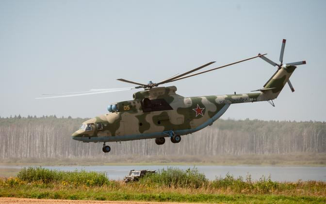 Russian military helicopter.