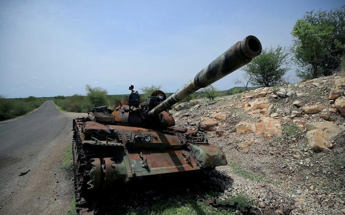Hävitatud tank Etioopias