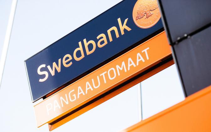 Swedbank ATM in Estonia.