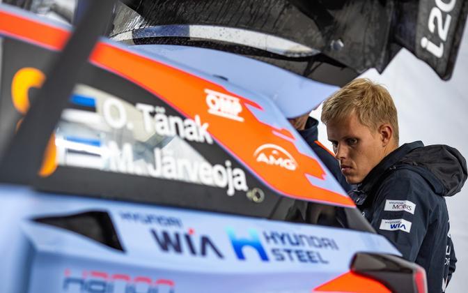 Ott Tänak and the Hyundai i20.
