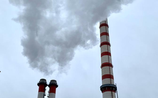 Eesti Energia soojuselektrijaama korstnad.