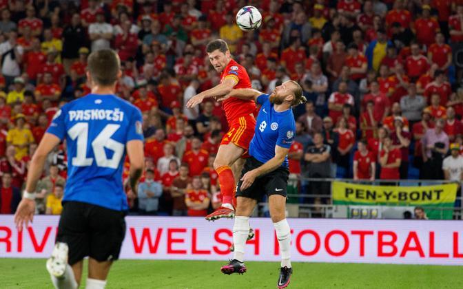 Jalgpalli MM-valikmäng: Wales - Eesti
