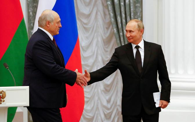 Vladimir Putin ja Aleksandr Lukašenko
