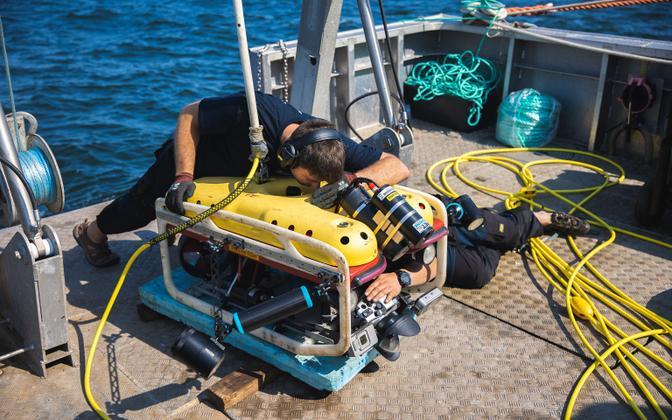 Work-in-progress at last summer's MS Estonia wreck dive.