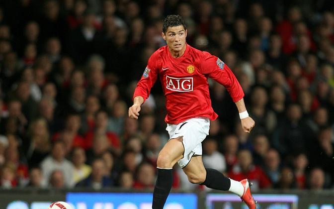 Cristiano Ronaldo 2009. aastal Manchester Unitedi ridades.