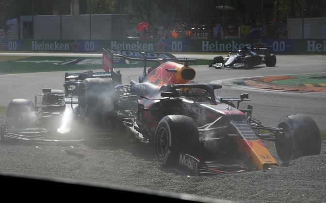 Lewis Hamiltoni ja Max Verstappeni kokkupõrge