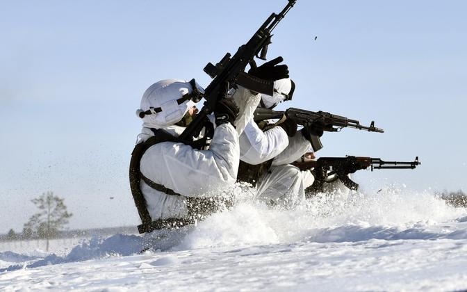 Vene sõdurid Arktikas