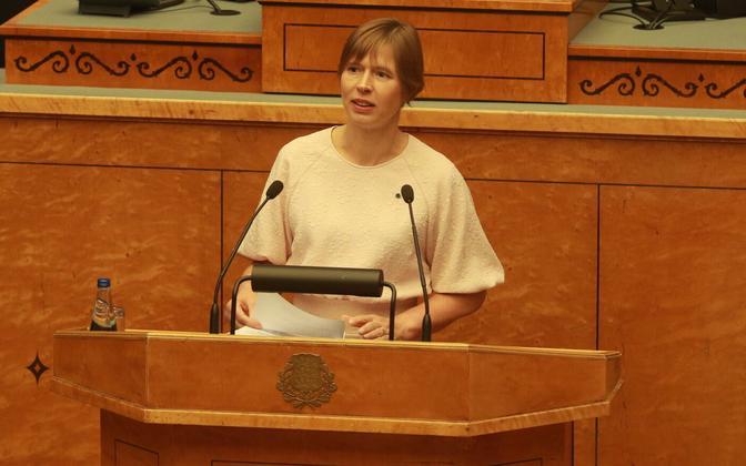 Президент Эстонской Республики Керсти Кальюлайд.