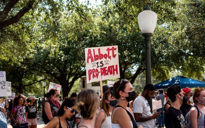 Texase abordiseaduse protest