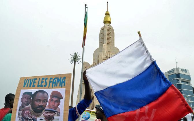 Venemaa lipp Mali pealinnas Bamakos