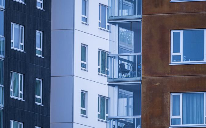 New apartment buildings.