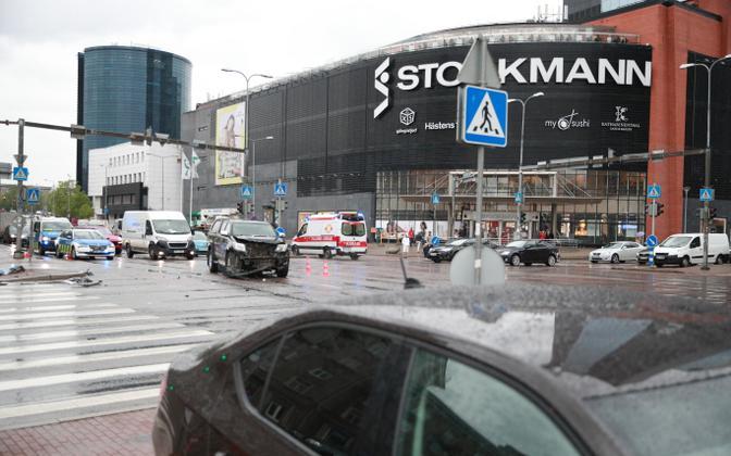 Tänavu juunis Tallinnas nn Stockmanni ristmikul juhtunud avarii