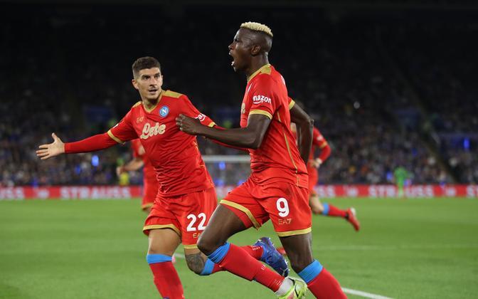 Victor Osimhen lõi Napoli 2:2 viigimängus Leicesteri vastu kaks väravat