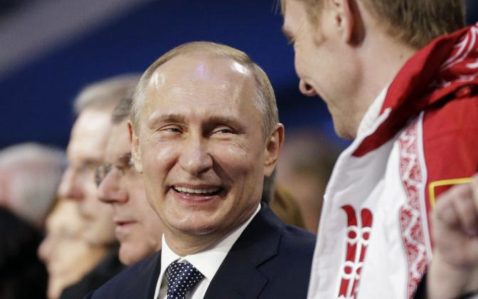 Vladimir Putin 2014. aasta Sotši taliolümpial