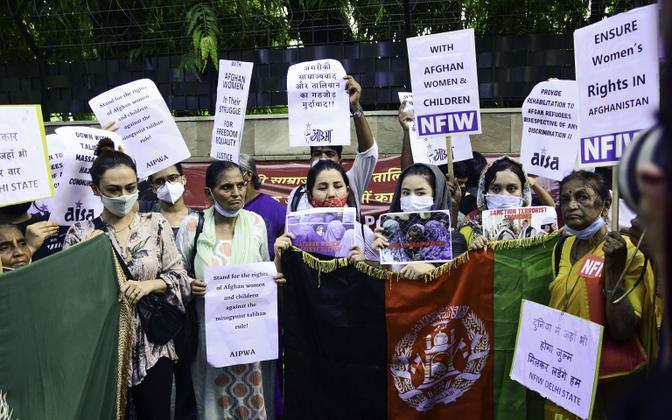 Afganistani naiste õigusi toetav meeleavaldus