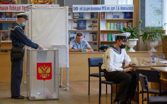 Venemaa parlamendivalimiste esimene päev.