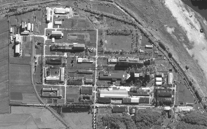 Satelliitfoto Yongbyoni tuumakompleksi laiendamisest.