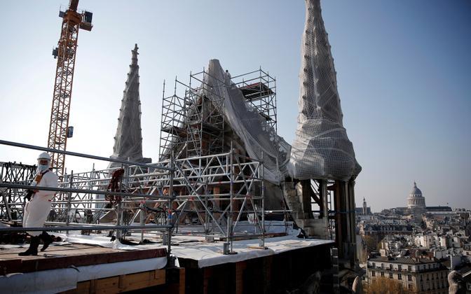 2019. aasta aprillis põlenud Notre-Dame'i katedraali konstruktsiooni kindlustamine on jõudnud lõpule.