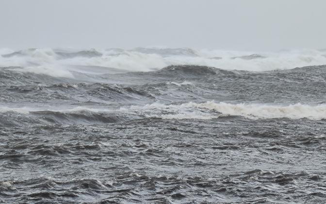 Stormy seas.