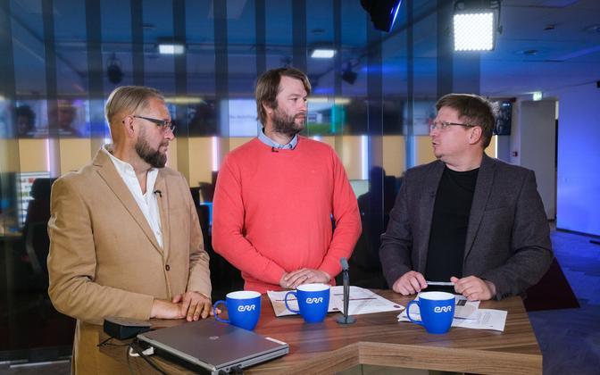 Слева направо: Анвар Самост, Тынис Стамберг и Урмет Коок.