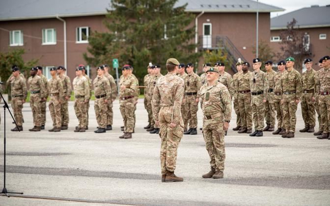 Parade at the NATO Battlegroup in Tapa.