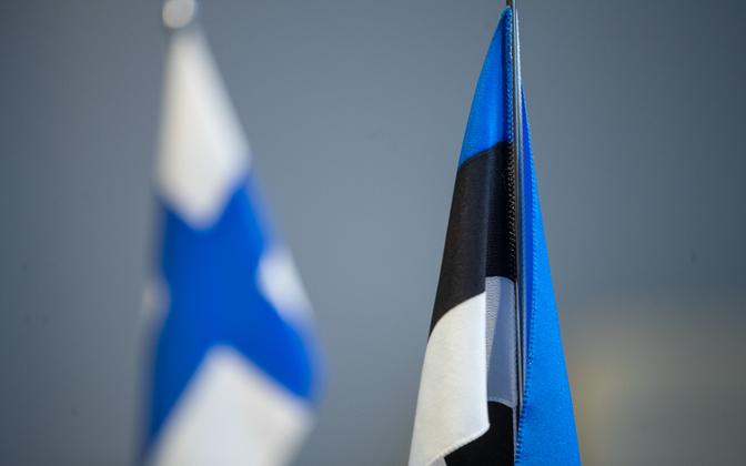 Finnish and Estonian flags.