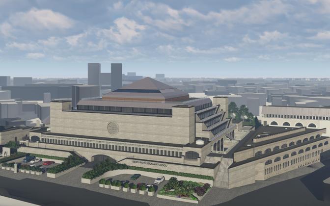 Так Национальная библиотека будет выглядеть после реконструкции.