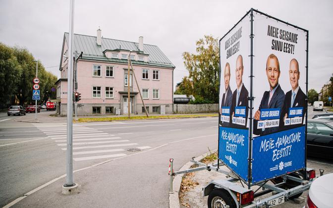 A EKRE election advert in Tallinn.
