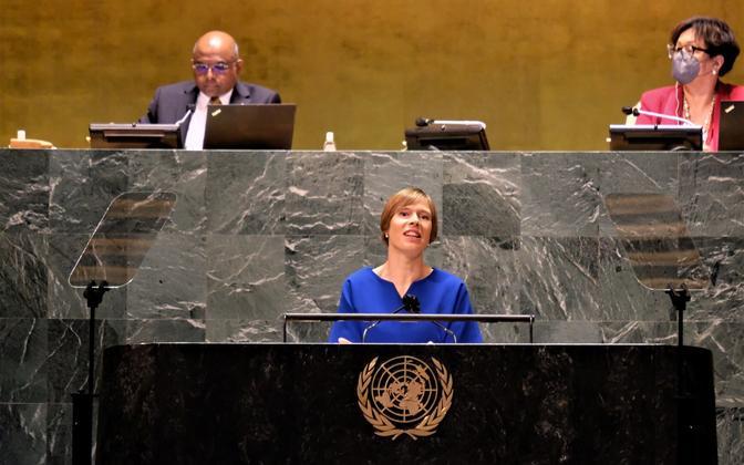 Выступление Керсти Кальюлайд в Генассамблее ООН.