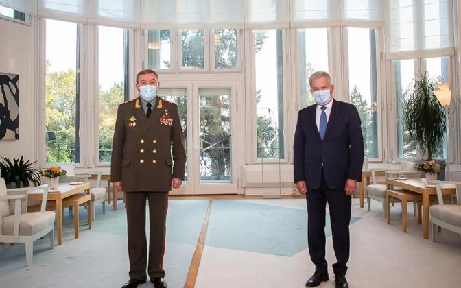 Sauli Niinistö ja Valeri Gerassimov