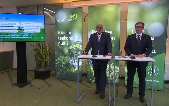 Ааво Кярмас и Вейко Ряйм на пресс-конференции Enefit Green.
