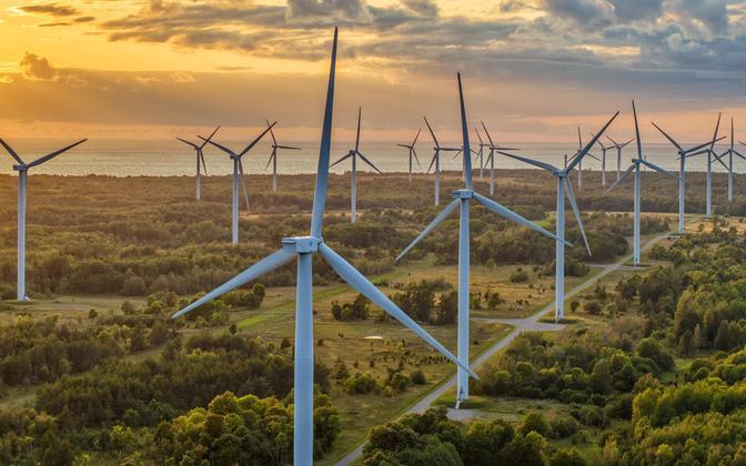 Tuulepark Paldiskis. Foto on illustreeriv.