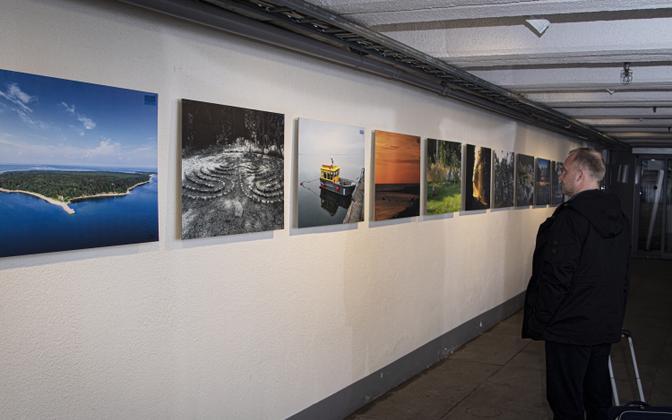 Выставка лучших фотографий острова Аэгна будет открыта в тоннеле площади Вабадузе до конца октября.