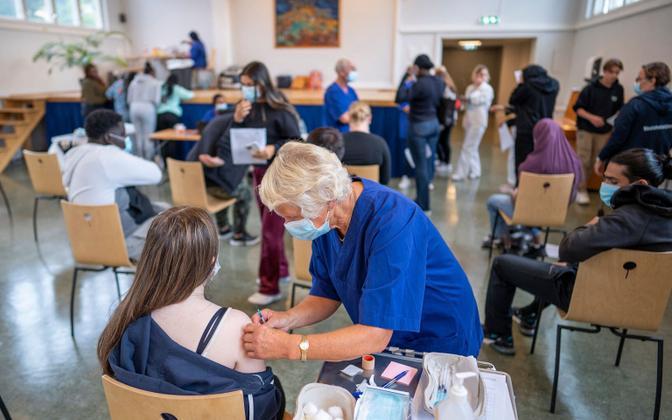 Vaktsineerimine Oslos.